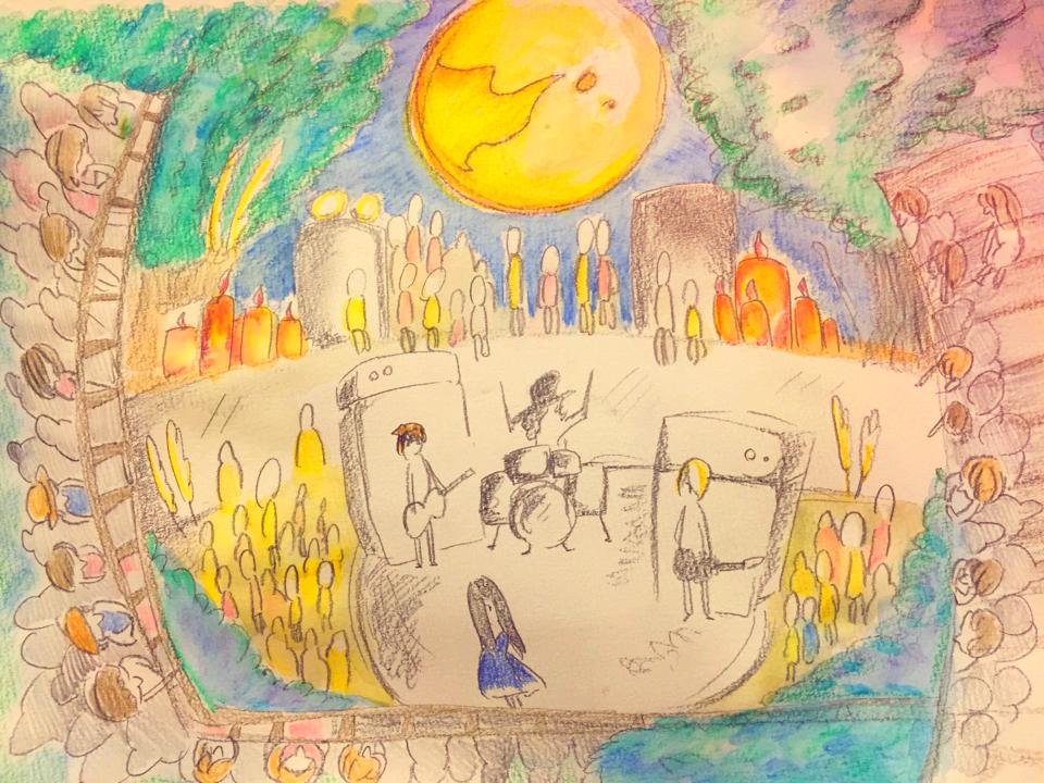 月下の音楽祭_イメージボード